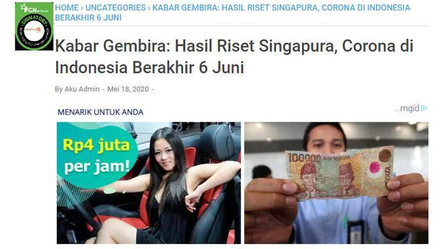 Cek Fakta Prediksi Covid 19 Di Indonesia Berakhir 6 Juni 2020 Tidak Benar Cek Fakta Liputan6 Com