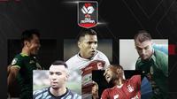 Samsul Arif, Beto Goncalves, Nicolas Velez, Melvyn Lorenzen dan Andri Ibo. (Bola.com/Dody Iryawan)