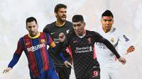 Ilustrasi - Lionel Messi, Alisson Becker, Roberto Firmino, Casemiro (Bola.com/Adreanus Titus)