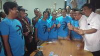 Relawan yang pernah membela Jokowi pada Pilpers 2014 kini mendukung Prabowo-Sandiaga. (Liputan6.com/Ady Anugrahadi)