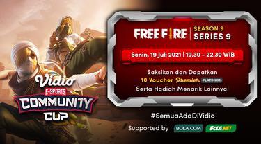 Saksikan Link Live Streaming Vidio Community Cup Season 9 Free Fire Series 9 di Vidio, Senin 19 Juli 2021