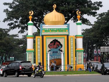 Dekorasi Bernuansa Ramadan Hiasi Sudut Kota Tangsel