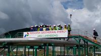 Pembangkit Listrik Tenaga Panas Bumi (PLTP) Lahendong menjadi salah satu andalan pasokan listrik di wilayah Sulawesi Utara.