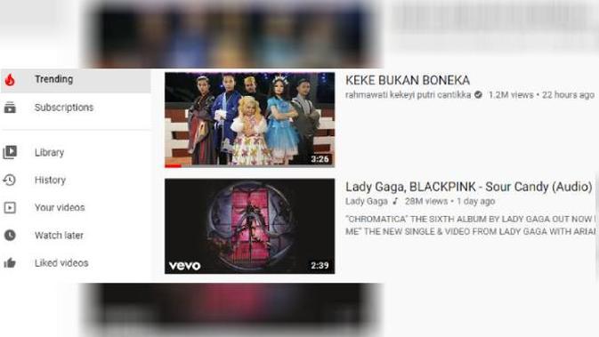 Lagu Keke Bukan Boneka Trending di YouTube