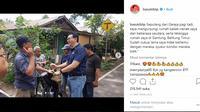 Mantan Gubernur DKI Jakarta Basuki Tjahaja Purnama (BTP) alias Ahok pulang kampung ke Belitung Timur. (foto: instagram basukibtp)
