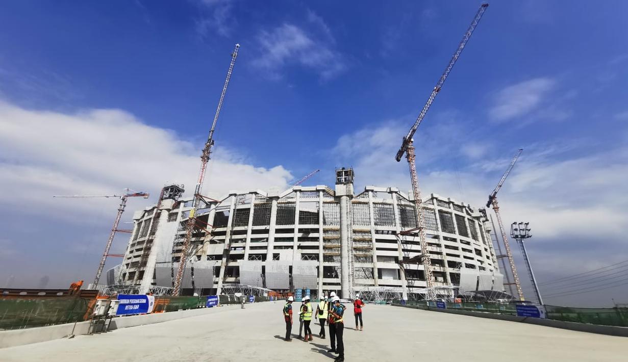 Jakarta International Stadium diproyeksikan berkapasitas 82 ribu penonton dan kedepannya, stadion itu akan menjadi markas klub Persija Jakarta. (Foto: Dok Humas Pemprov DKI Jakarta)