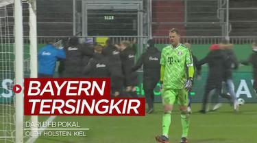 Berita video momen Bayern Munchen tersingkir dari DFB Pokal setelah kalah adu penalti dari tim kasta kedua, Holstein Kiel, Kamis (14/1/2021) dinihari WIB.
