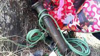 Serpihan meriam milik Kerajaan Sahilan Darussalam di Kabupaten Kampar, Riau, yang meledak hingga menelan satu korban jiwa dan empat orang terluka. (Foto: Istimewa/Dok. Humas Polda Riau/M Syukur)