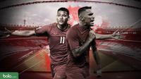 Duel Pemain Kualifikasi Piala Dunia 2022: Indonesia vs Vietnam. (Bola.com/Dody Iryawan)
