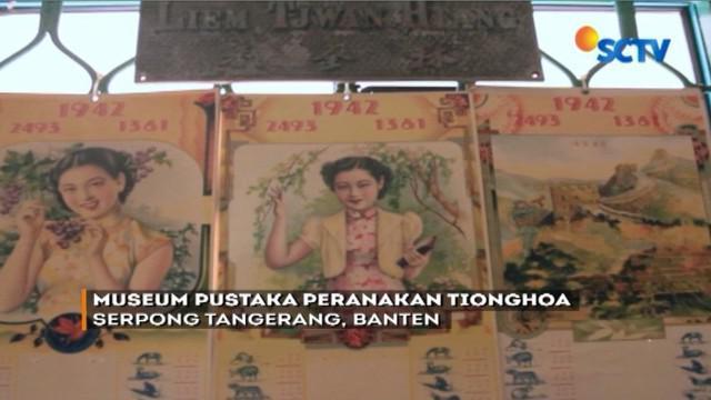 Azmi Abubakar membuktikan kebhinekaan dengan mendirikan Museum Pustaka Peranakan Tionghoa yang berisi ribuan karya dari etnis Tionghoa.