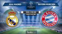 Semifinal Liga Champions 2017/2018 Real Madrid Vs Bayern Munchen (Bola.com/Adreanus Titus)