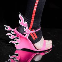 Prada Flaming Heels - Photo: vogue