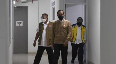Presiden Jokowi meninjau kesiapan Rusun Pasar Rumput untuk isolasi pasien Covid-19