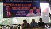 Herman Deru-Mawardi Yahya mendeklarasikan dukungan untuk memenangkan Jokowi dalam Pilpres 2019. (Liputa6.com/Nanda Perdana)