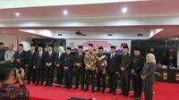 Rapat paripurna paslon Pilkada Palembang yang diselenggarakan di DPRD Palembang (Liputan6.com / Nefri Inge)