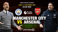 Manchester City vs Arsenal (Liputan6.com/Triyasni)