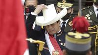 Pedro Castillo Presiden Peru yang baru. (AP)