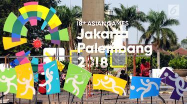 Sambut Asian Games 2018, Karakter Cabang Olahraga Hiasi Jakarta