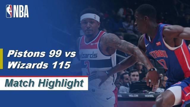 Berita Video Highlights NBA 2019-2020, Detroit Pistons Vs Washington Wizards 99-115
