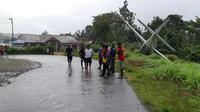 Alfa Air tergelincir di Bandara Kasonaweja Mamberamo Raya. (Kabarpapua.co)