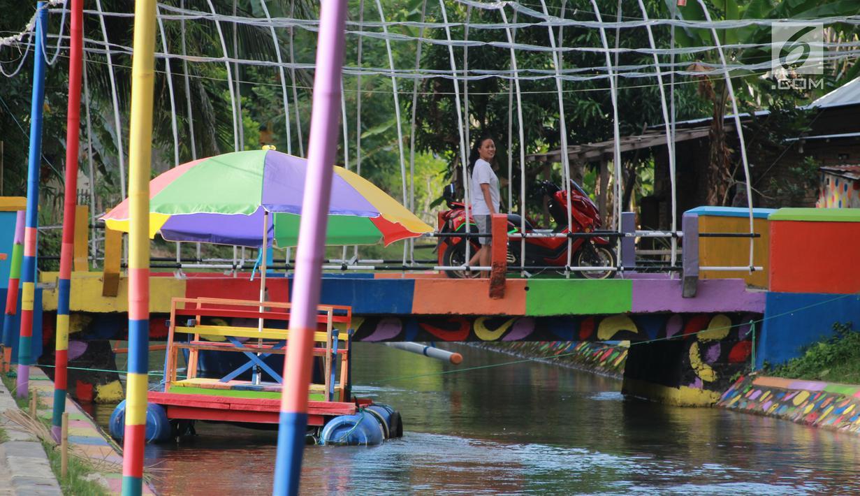 FOTO: Warga Gorontalo Sulap Drainase Jadi Spot Wisata Air Demi