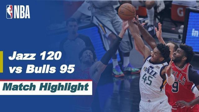 Berita video highlights laga musim reguler NBA 2020/2021 antara Chicago Bulls melawan Utah Jazz yang berakhir dengan skor 95-120, Selasa (23/3/2021) pagi hari WIB.