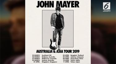 John Mayer mengumumkan tur Australia dan Asia 2019. Dalam daftar kota yang akan ia kunjungi, tertulis Jakarta pada bulan April 2019.
