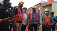 Kementerian PUPR menghadiri launching program Kotaku di Kelurahan Ciketing Udik, Bantargebang. (Liputan6.com/ Bam Sinulingga)