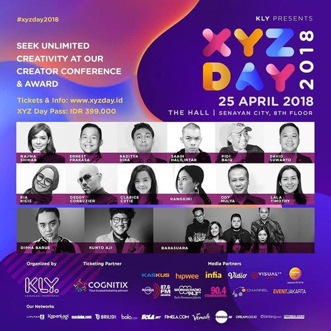 Speaker dan musisi yang akan memeriahkan XYZ Day./Copyright instagram.com/xyzday.id