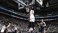 Miami mengalahkan Utah Jazz 111-110 pada laga lanjutan NBA, Kamis (1/12/2016) waktu setempat. (Bola.com/Twitter/Miami Heat)