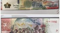 Viral penampakan uang baru yang diterbitkan untuk memperingati Hari Kemerdekaan RI yang ke-75 tahun.