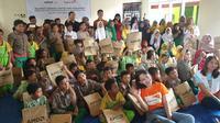 Dengan bantuan sejumlah lembaga swadaya masyarakat, dunia pendidikan di Palu, Sulawesi Tengah terus berbenah dari dampak bencana gempa. (Liputan6.com/Nanda Perdana Putra)