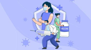 Banner Infografis 3 Vaksin dalam Program Vaksinasi Covid-19 Nasional Kantongi Izin WHO. (Liputan6.com/Trieyasni)