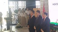 Kementerian Energi Sumber Daya Mineral (ESDM) menggelar serah terima jabatan Menteri ESDM dari Ignasius Jonan ke Arifin Tasrif. (Liputan6.com/Pebrianto Eko Wicaksono)