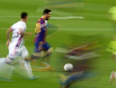 FOTO: Bungkam Real Valladolid, Barcelona Gusur Real Madrid di Klasemen Liga Spanyol