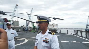 Chunchun Meares, anggota Angkatan Laut AS keturunan Indonesia (Liputan6.com/Happy Ferdian Syah Utomo)
