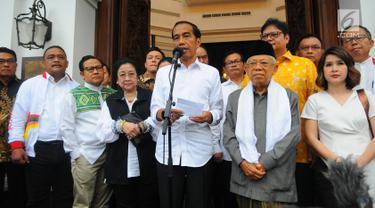 Didampingi Ketum Parpol, Jokowi Jelaskan Hasil 12 Lembaga Survei