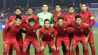 Pemain Timnas Indonesia saat melawan Vietnam pada laga final di Stadion Rizal Memorial di Manila, Selasa (10/12/2019). (Bola.Com/M Iqbal Ichsan)