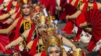 Tari Gandrung Khas Banyuwangi, Jawa Timur (AFP)