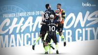Manchester City juara Premier League 2018-2019. (Bola.com/Dody Iryawan)