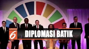 Wapres Jusuf Kalla hadiri sidang umum PBB di New York, Amerika Serikat, dengan mengenakan baju batik.