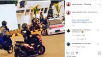 Lagi Asik Freestyle Malah Nabrak Mobil Polisi (Instagram @agoez_bandz4)