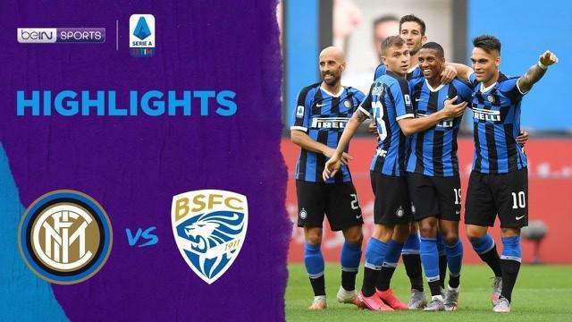 Berita Video Highlights Serie A, Inter Milan Cukur Brescia 6 Gol Tanpa Balas