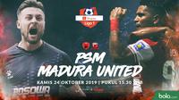 Shopee Liga 1 - PSM Makassar Vs Madura United - Head to Head Pemain (Bola.com/Adreanus Titus)