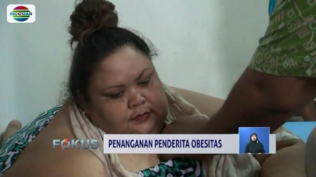 Kondisi Titi Wati, penderita obesitas dengan bobot berkisar 350 kilogram, stabil, setelah sebelumnya sempat mengalami sesak napas dan dievakuasi ke rumah sakit.