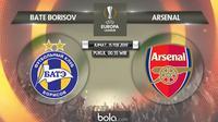 Liga Europa: BATE Borisov Vs Arsenal (Bola.com/Adreanus Titus)