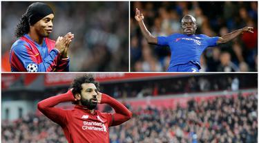 Penggemar sepak bola merupakan suatu kelompok yang sering memberikan pujian kepada pemain kesayangannya. Namun tak sedikit juga yang juga memberikan pujian kepada pemain tim rival. (Kolase Foto AFP)