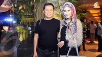 Zaskia Adya Mecca dan Hanung Bramantyo. Foto: Herman Zakaria/Liputan6.com