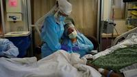 Duka warga Amerika Serikat yang telah kehilangan 500 ribu nyawa akibat COVID-19. (Foto: AP)