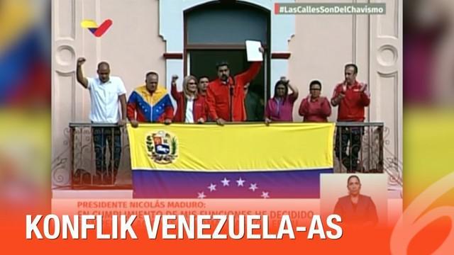 Presiden Venezuela Nicolas Maduro memutus hubungan politik dan diplomatik dengan Amerika Serikat setelah dirinya disebut sebagai diktator.